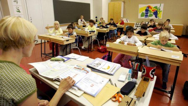 Une école primaire à Vaasa, Finlande