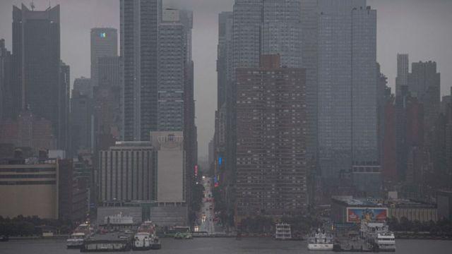 Lluvias en la ciudad de Nueva York
