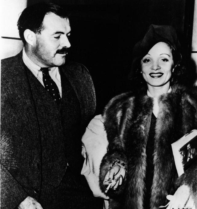 مارلین دیتریش و ارنست همینگوی