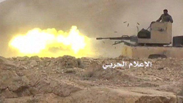 Tank firing weapon