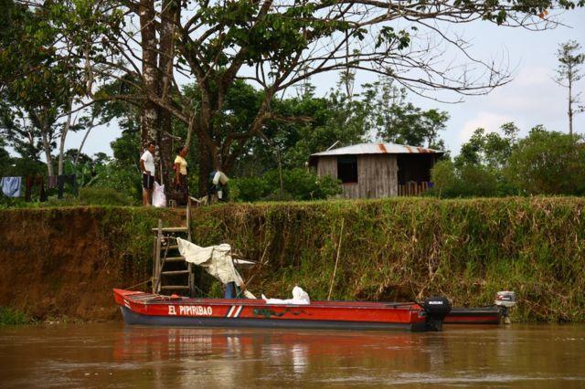 Habitantes de Isla Calero, Costa Rica.