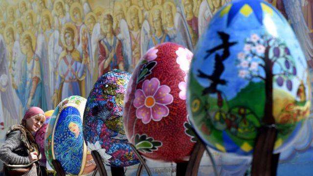 Festival de ovos de Páscoa na Ucrânia