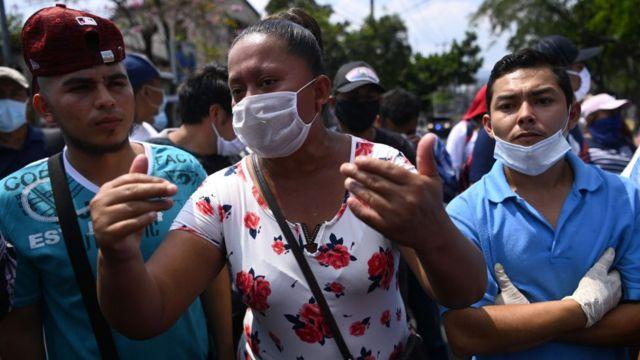 Marcha en El Salvador