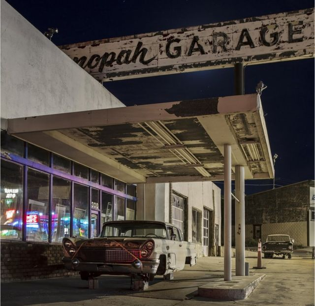 Night-time in America's small towns