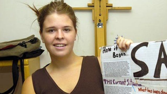 File image from May 2013 of Kayla Mueller