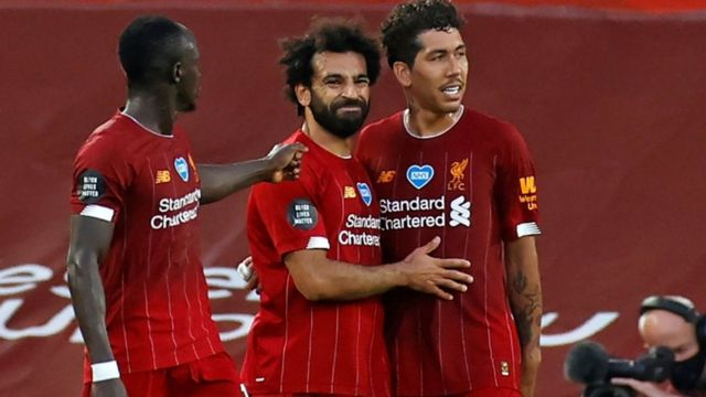 Mané, Salah y Firmino.