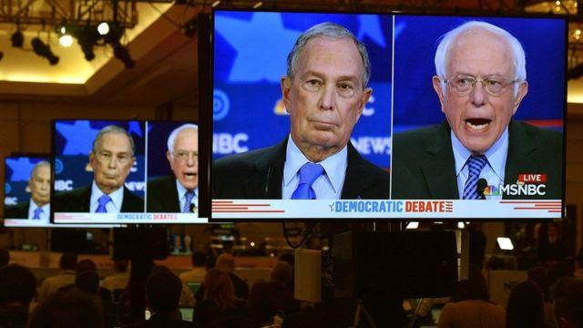 برنی سندرز و مایکل بلومبرگ در مناظره داوطلبان نامزدی حزب دموکرات به یکدیگر تاختند.