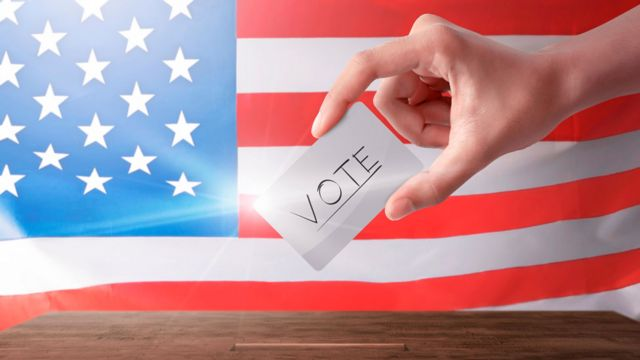 Stock image of voter