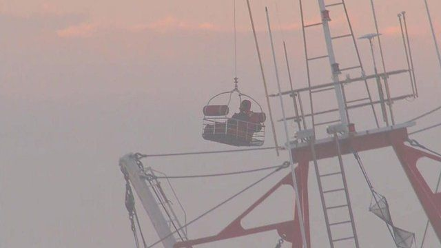 Airlift from fishing boat off coast of New York