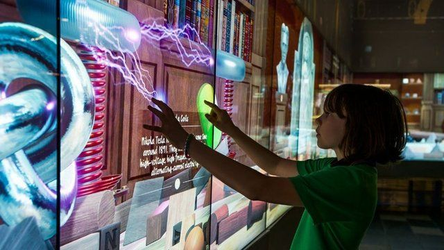 Child using the science screen