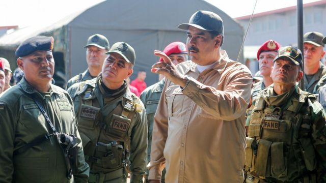 President Maduro leads a military exercise in Caracas - 27 January