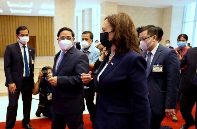 Thủ tướng Phạm Minh Chính tiếp đón Phó tổng thống Mỹ