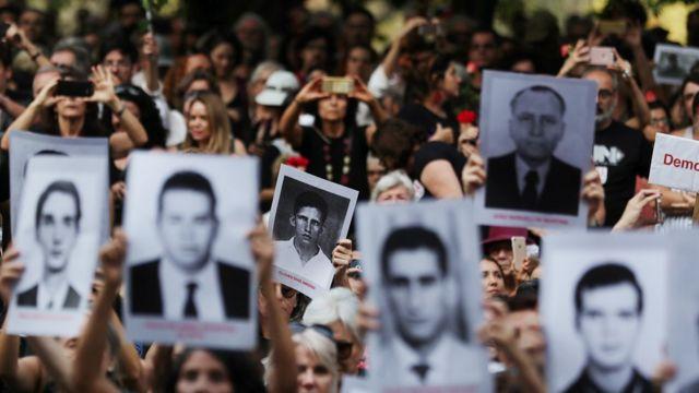 Manifestación en Sao Paulo por víctimas de la dictadura