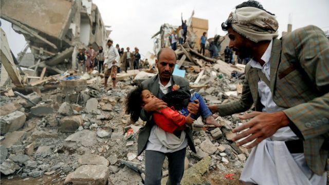 Serangan udara di Yaman pada Agustus 2017