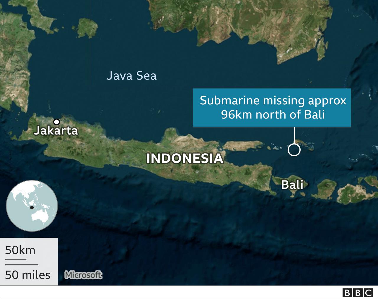 အင်ဒိုနီးရှား၊ ရေငုပ်သင်္ဘော၊ ပျောက်ဆုံး