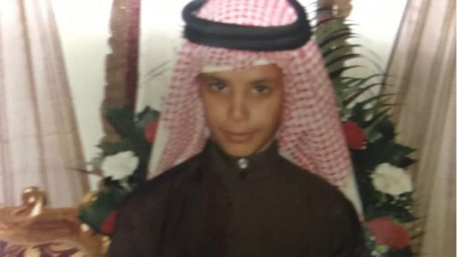 Hamad as a child
