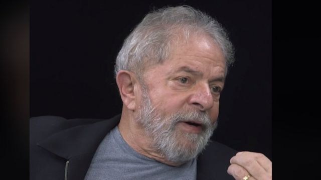 Lula em vídeo divulgado recentemente