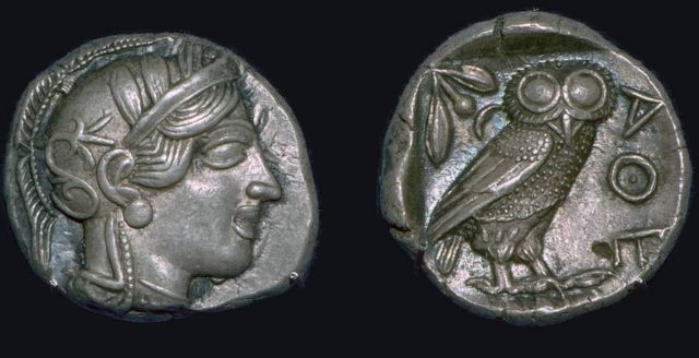 The Athene noctua, or European owl, was the sacred animal of the goddess Athena in Greek mythology, and in Roman culture, the bird of Minerva.