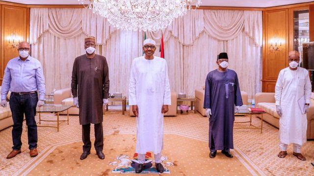 President Buhari latest news: Nigeria leader no dey wear facemask ...