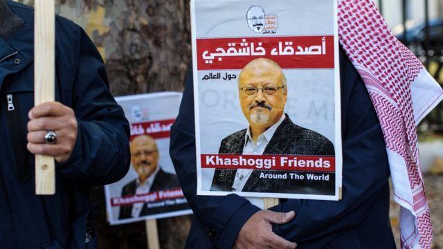 aksi pro Jamal Khashoggi