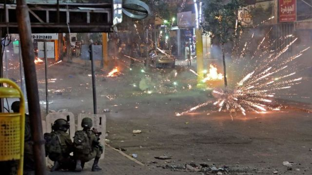 Enfrentamientos en Israel.