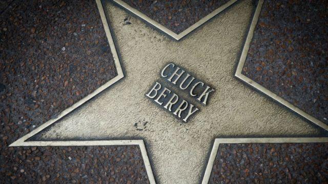 Chuck Berry's star on the Delmar Loop Walk of Fame in University City, Missouri.