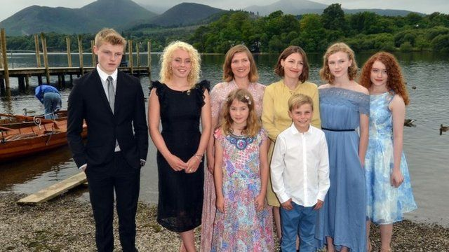 The cast of the new Swallows and Amazons film