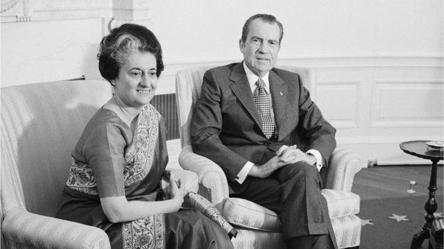 ইন্দিরা গান্ধী ও রবার্ট নিক্সন। নভেম্বর, ১৯৭১