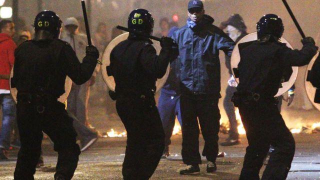 Riot in Tottenham in 2011