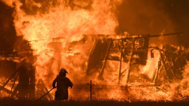 fire in Bilpin, NSW