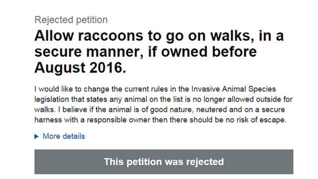 Yenotların hərəkətini məhdudlaşdırmaq tələbli petisiya ona görə rədd edilib ki, Avropa qanunvericiliyinə aid məsələdir