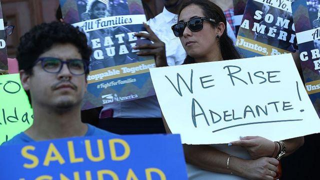 Protesta a favor de DAPA