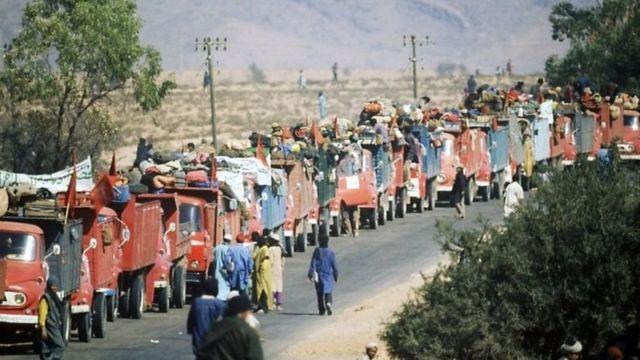 المغرب أرسل مئات الالاف من مواطنيه إلى الصحراء الغربية فيما عرف بالمسيرة الخضراء تأكيداً على حقه في الأقليم
