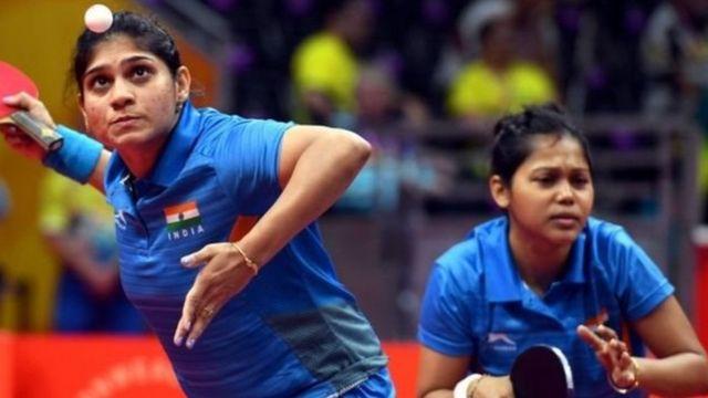 ભારતીય મહિલા ટેબલ ટેનિસ ટીમનાં ખેલાડી