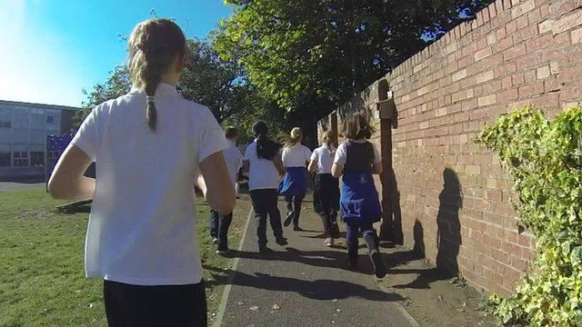 Pupils running daily mile
