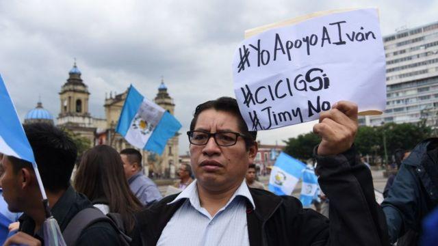 Protesta contra Jimmy Morales en Guatemala