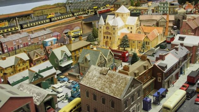 The railway and town built by Laurence Teague in his attic