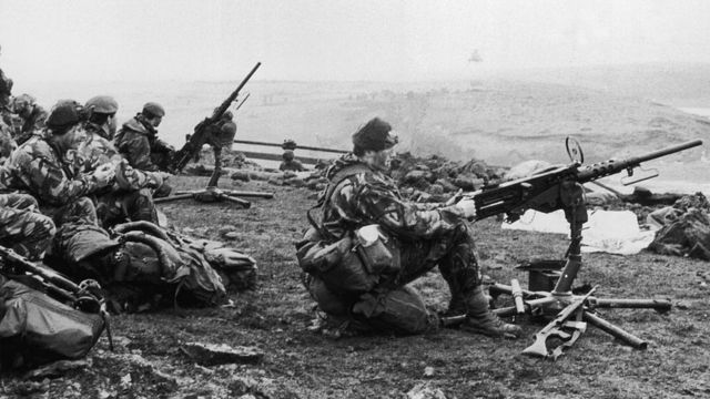 Soldados británicos.