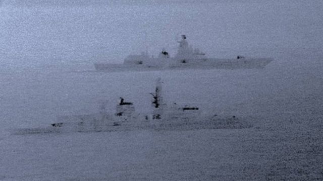 Russian naval task group tracked from off Scotland