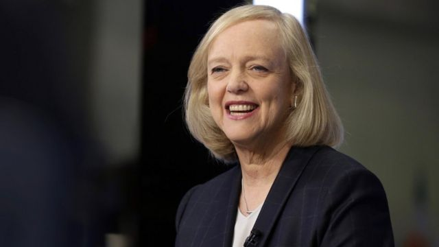 Además de ser ejecutiva de Hewlett-Packard, Meg Whitman es una conocida recaudadora de fondos y donante del Partido Republicano.