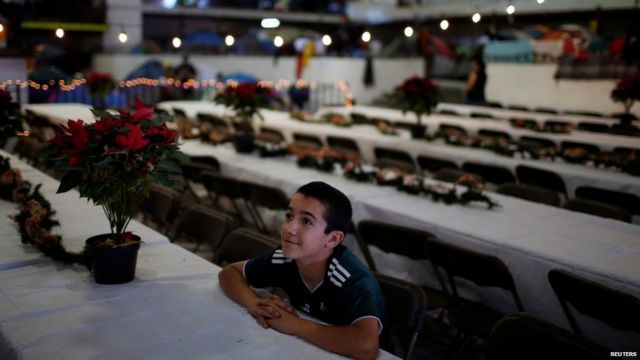 mexico migrant, christmas