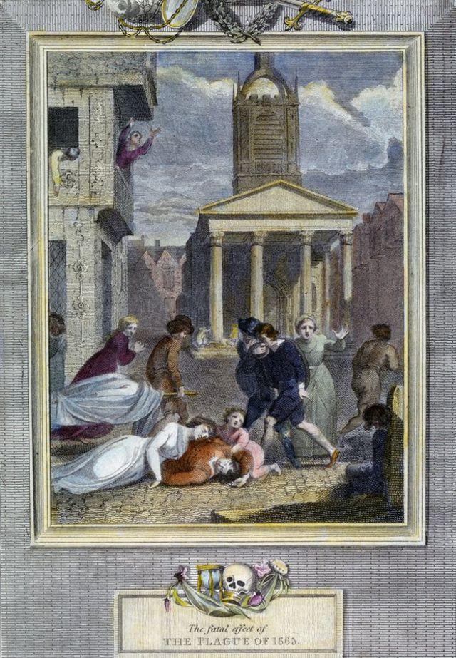 """""""El fatal efecto de la peste"""" dice esta ilustración."""