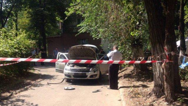 В Днепре взорвался автомобиль