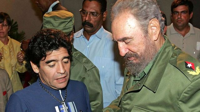 Марадона и Кастро