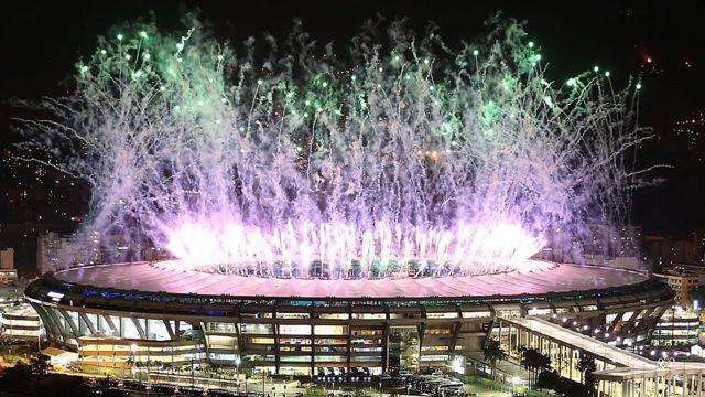 Открытие Олимпиады в Рио-де-Жанейро