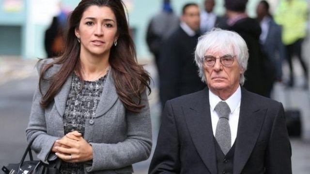 Fabiana Flosi y Bernie Ecclestone