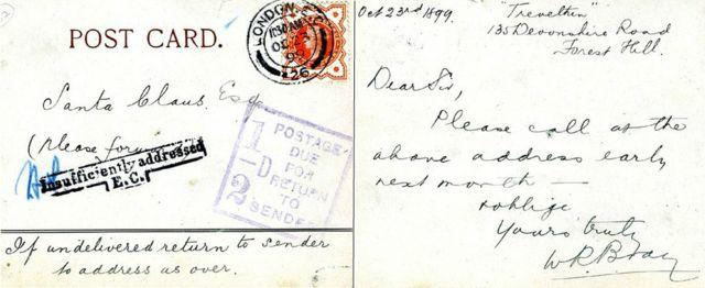 Также не смогли отправить и доставить и письмо, адресованное Санта Клаусу