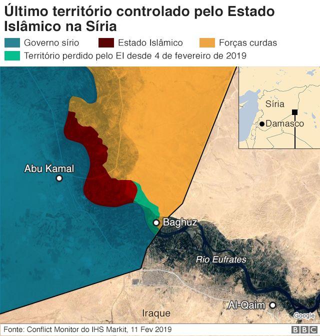 Último território controlado pelo Estado Islâmico na Síria