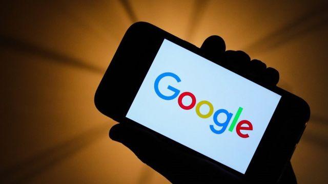 El logo de Google en un móvil
