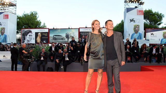 Emmanuel Carrère and his ex-wife Hélène Devynck at the premiere of